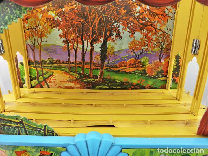 Juguetes antiguos: Airgam Gran teatro + Cuento completo y personajes de Caperucita Roja - Foto 9 - 138290282