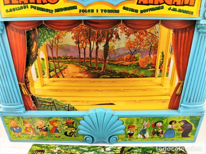Juguetes antiguos: Airgam Gran teatro + Cuento completo y personajes de Caperucita Roja - Foto 12 - 138290282