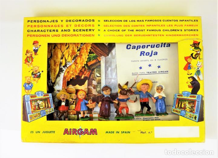 Juguetes antiguos: Airgam Gran teatro + Cuento completo y personajes de Caperucita Roja - Foto 23 - 138290282