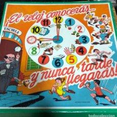 Juguetes antiguos: JUEGO EL RELOJ CONOCERÁS Y NUNCA TARDE LLEGARÁS. Lote 138662885