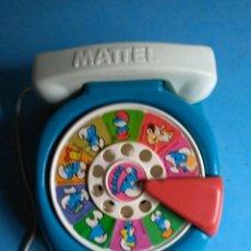 Juguetes antiguos: TELÉFONO LOS PITUFOS , MATTEL AÑO 1978. Lote 139241654