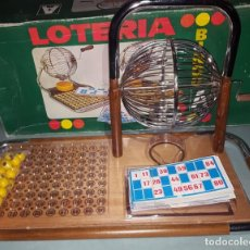 Juguetes antiguos: LOTERIA-BINGO DE AGUILAR - ESTRUCTURA DE MADERA Y METAL. Lote 142319006