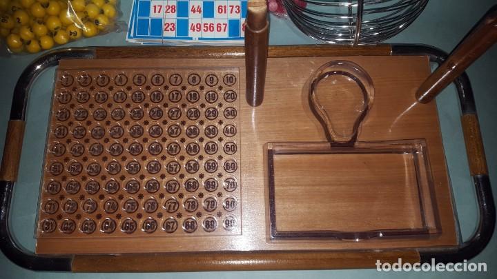 Juguetes antiguos: LOTERIA-BINGO de AGUILAR - ESTRUCTURA de MADERA y METAL - Foto 2 - 142319006