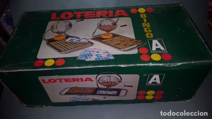 Juguetes antiguos: LOTERIA-BINGO de AGUILAR - ESTRUCTURA de MADERA y METAL - Foto 9 - 142319006