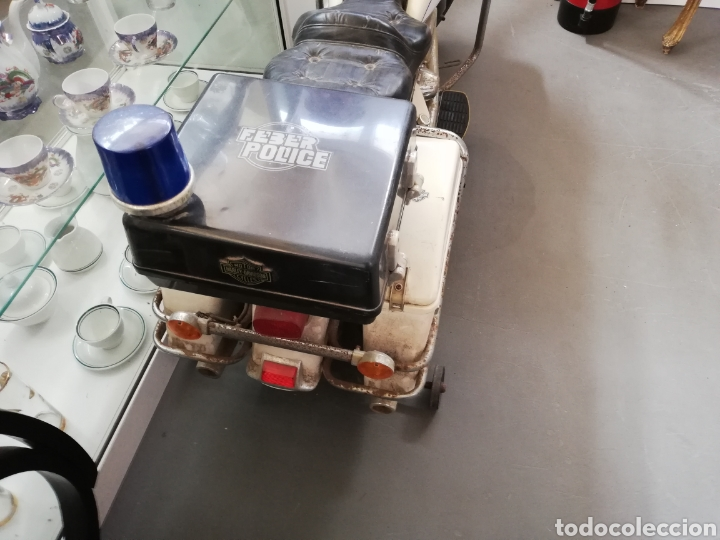 Juguetes antiguos: Moto de feber batería años 80 policía modelo Harleys Davison - Foto 5 - 143600057