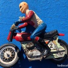 Juguetes antiguos - Antigua moto juguete vercor. Hojalata y pvc - 143707188