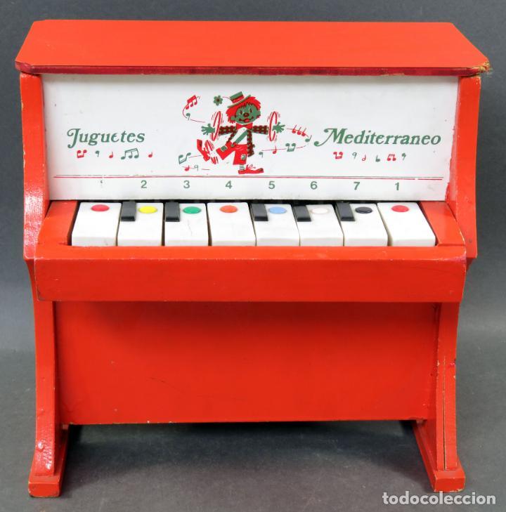 PIANO MADERA Y PLÁSTICO JUGUETES MEDITERRÁNEO AÑOS 60 (Juguetes - Marcas Clasicas - Otras Marcas)
