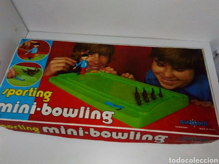 Juguetes antiguos: Sporting mini bowling airgam - Foto 2 - 146527854