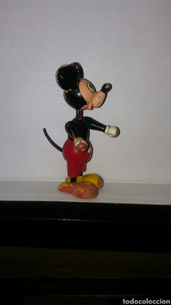 Antiguo Disney Mickey De Madera Mouse kZiuOXTP