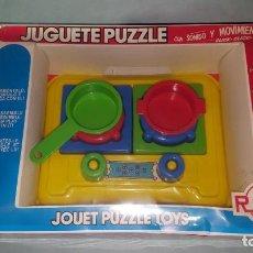 Juguetes antiguos: JUGUETE DE RICO COCINA PUZZLE. Lote 147363554