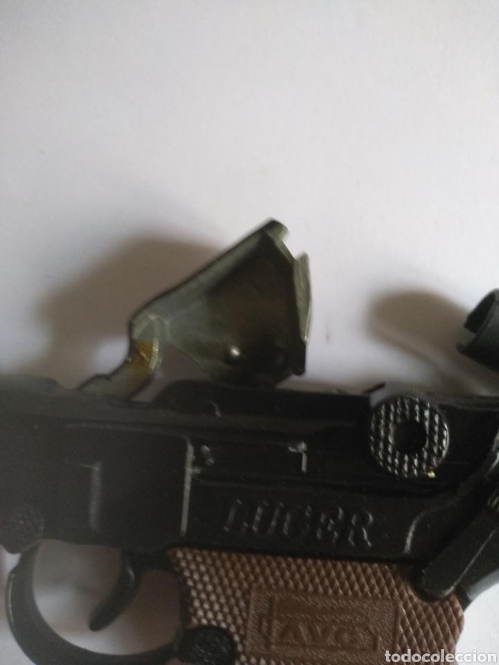 Juguetes antiguos: Pistola juguete Luger Cal 765 especial con silenciador ,marca AVC hecho en Ibi España - Foto 8 - 148773621