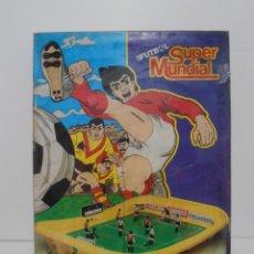 Juguetes antiguos: FUTBOL SUPER MUNDIAL, RIMA, COMPLETO, CAJA ORIGINAL, FUTBOLIN, AÑOS 80. Lote 150083802