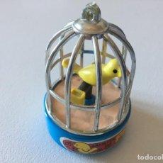 Juguetes antiguos: JAULITA DE PIN-PIN, FUNCIONANDO, DE MINI FEBER. Lote 150095730