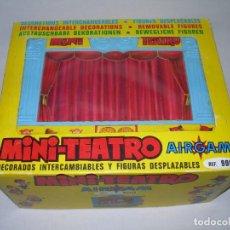 Juguetes antiguos: ANTIGUO MINI-TEATRO EN CAJA ORIGINAL DE AIRGAM AÑO 1969 CON FIGURAS - EN GRAN ESTADO - MINITEATRO -. Lote 152567682