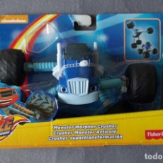 Jouets Anciens: NICKELODEON BLAZE AND DE MONSTER MACHINES, COCHE FISHER PRICE AZUL. Lote 153935818