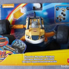 Jouets Anciens: NICKELODEON BLAZE AND DE MONSTER MACHINES, COCHE FISHER PRICE AMARILLO. Lote 153936086