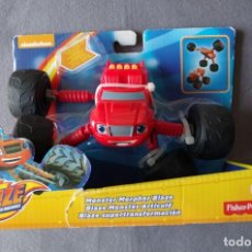 Jouets Anciens: NICKELODEON BLAZE AND DE MONSTER MACHINES, COCHE FISHER PRICE ROJO. Lote 153936254