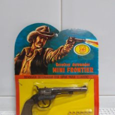 Juguetes antiguos: REVOLVER DETONADOR MINI FRONTIER MADE IN SPAIN. Lote 153953856