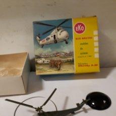 Juguetes antiguos: EKO HELICOPTERO SIKORSKY S 58 EN CAJA VERDE MILITAR. Lote 154904225
