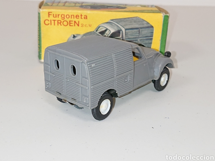 Juguetes antiguos: Furgoneta Citroën 2 cv de Comando à fricción réf. 411 - Foto 3 - 157125014