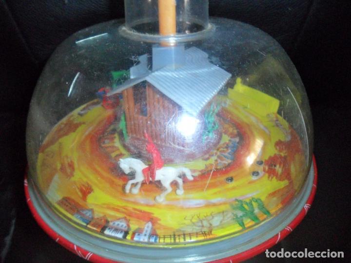 Juguetes antiguos: SUPER TROMPO DE METAL GIRATORIO - COWBOY GIRATORIO INDIOS Y VAQUEROS CARAVANA BANK, PECERA CARRUSEL - Foto 2 - 158644298