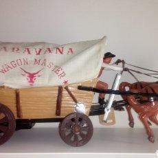 Juguetes antiguos: CARAVANA WAGON MASTER DE VICMA. DOS CABALLOS.. Lote 158650889