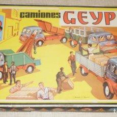 Juguetes antiguos: GEYPER MONTAJE DE CAMIONES CAJA REF 503. Lote 158744782