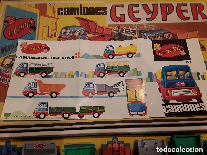 Juguetes antiguos: GEYPER MONTAJE DE CAMIONES CAJA REF 503 - Foto 15 - 158744782