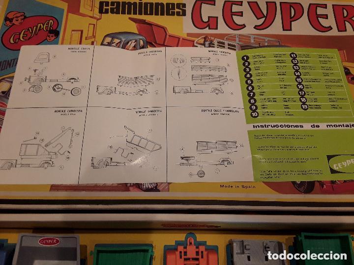Juguetes antiguos: GEYPER MONTAJE DE CAMIONES CAJA REF 503 - Foto 16 - 158744782