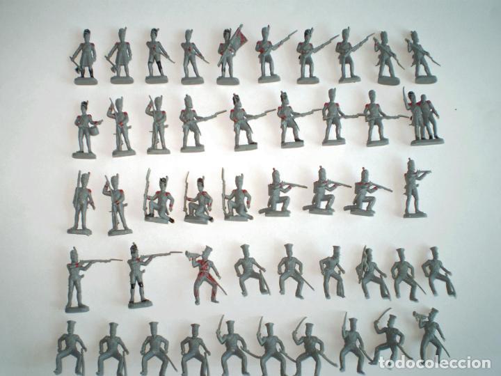 Juguetes antiguos: LOTE DE SOLDADOS GUERRAS NAPOLEÓNICAS PINTADOS A MANO - EKO MONTAPLEX AIRFIX ESCI REVELL - Foto 3 - 158792594