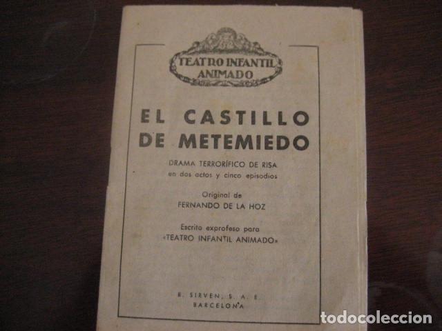 Juguetes antiguos: ESPECTACULAR TEATRO INFANTIL ANIMADO SIRVEN, SEMEJANTE A SEIX BARRAL EN CAJA ORIGINAL MUY RARO - Foto 19 - 159736318