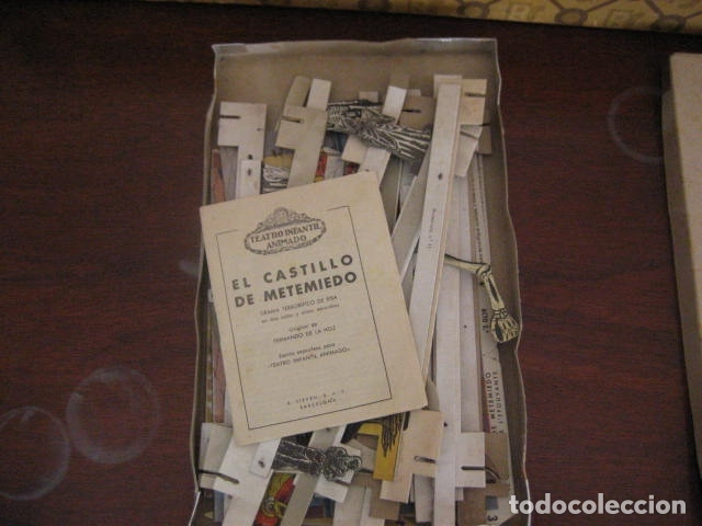 Juguetes antiguos: ESPECTACULAR TEATRO INFANTIL ANIMADO SIRVEN, SEMEJANTE A SEIX BARRAL EN CAJA ORIGINAL MUY RARO - Foto 18 - 159736318