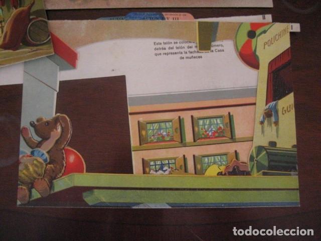 Juguetes antiguos: ESPECTACULAR TEATRO INFANTIL ANIMADO SIRVEN, SEMEJANTE A SEIX BARRAL EN CAJA ORIGINAL MUY RARO - Foto 50 - 159736318