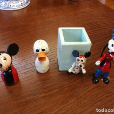 Juguetes antiguos: GOULA BOTE LAPICES CON MINNIE MOUSE WALT DISNEY -, AFILALAPIZ MICKEY MOUSE Y DONALD, GOOFY. Lote 161375354