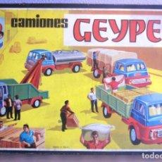 Juguetes antiguos: CAMIONES GEYPER MONTAJE EN CADENA REF 504 CON SU CAJA. Lote 161461530