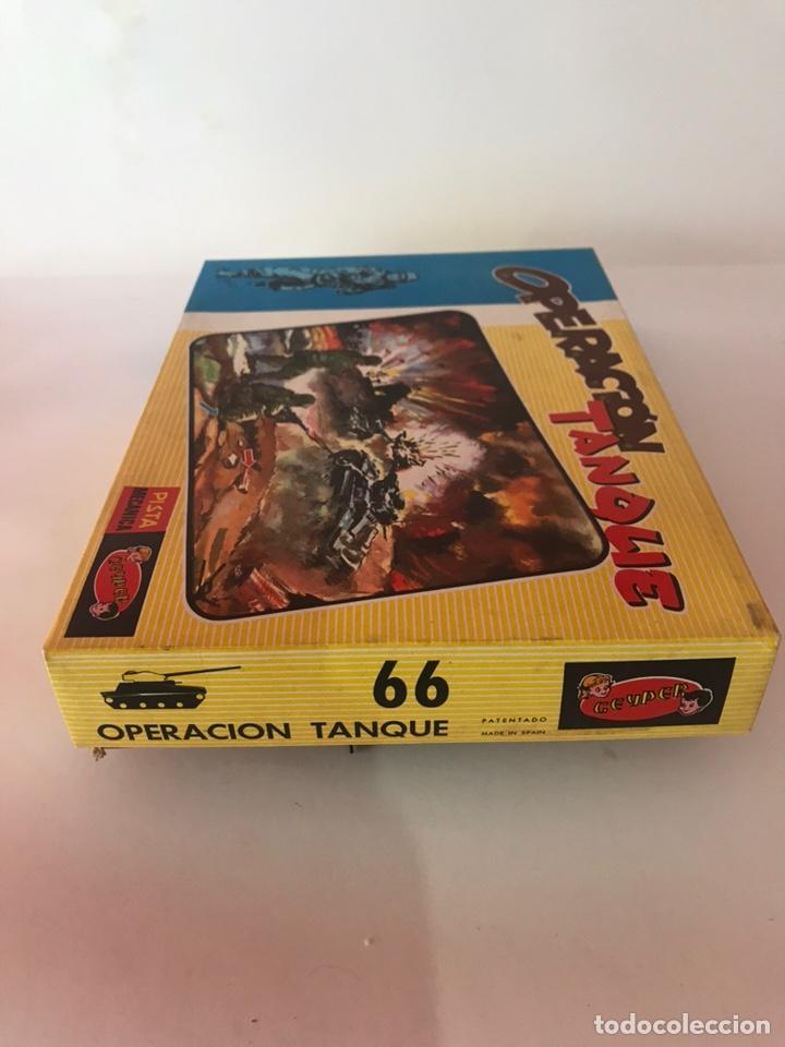 Juguetes antiguos: GEYPER OPERACION TANQUE PISTA MECÁNICA - Foto 5 - 162158657