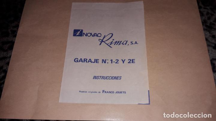 RIMA, GARAJE RIMA, INSTRUCCIONES, JUGUETE ANTIGUO (Juguetes - Marcas Clasicas - Otras Marcas)