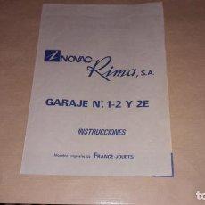 Juguetes antiguos: RIMA, GARAJE RIMA, INSTRUCCIONES, JUGUETE ANTIGUO. Lote 162302810