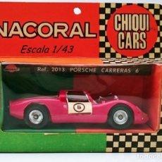 Juguetes antiguos: NACORAL REF 2013 CHIQUI CARS PORSCHE CARRERAS 6 - AÑOS 70 - PLÁSTICO. Lote 56621771