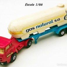 Juguetes antiguos: GUILOY CAMIÓN TRÁILER BARREIROS CON CISTERNA GAS NATURAL. Lote 56666724