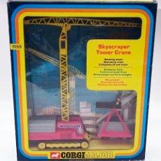 Juguetes antiguos: CORGI MAJOR 1155 SKYSCRAPER TOWER CRANE / GRÚA PLUMA MÓVIL. Lote 98618679