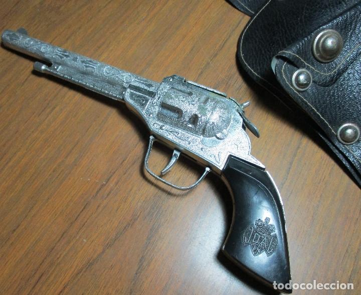 Juguetes antiguos: juguete del oeste holster o funda con pistola y cinturón años 60-70, JOAL - Foto 3 - 163493505
