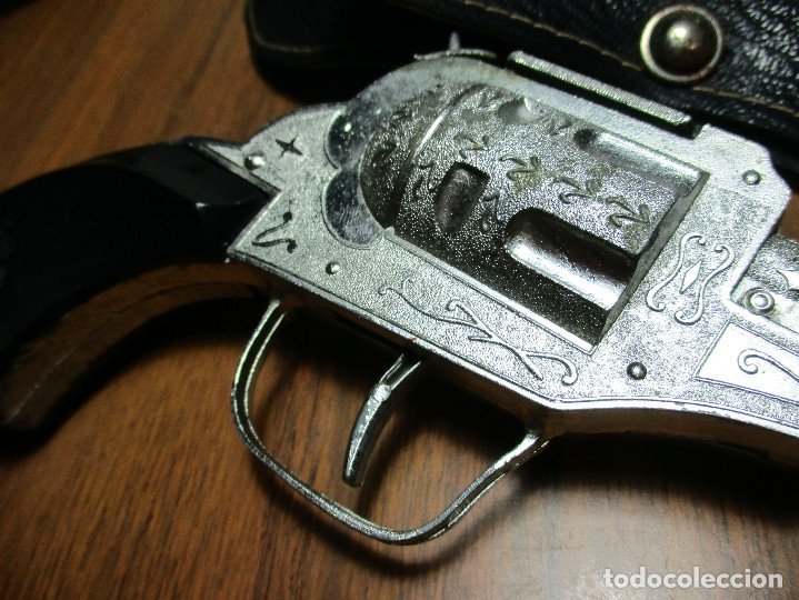 Juguetes antiguos: juguete del oeste holster o funda con pistola y cinturón años 60-70, JOAL - Foto 5 - 163493505