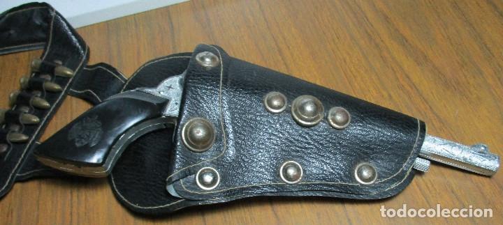 Juguetes antiguos: juguete del oeste holster o funda con pistola y cinturón años 60-70, JOAL - Foto 11 - 163493505