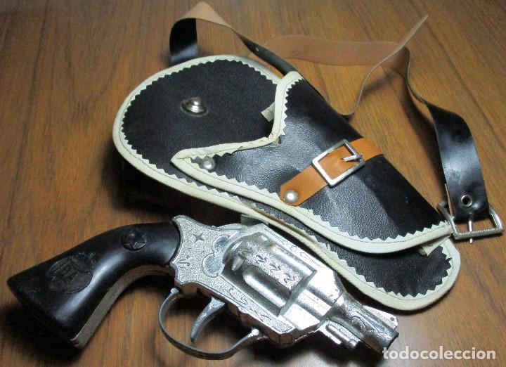 Juguetes antiguos: juguete del oeste holster o funda con pistola y cinturón años 60-70, JOAL - Foto 2 - 163495478