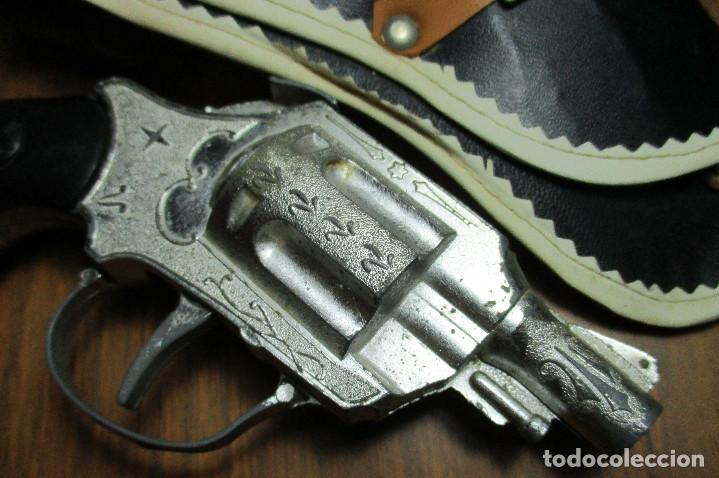 Juguetes antiguos: juguete del oeste holster o funda con pistola y cinturón años 60-70, JOAL - Foto 4 - 163495478