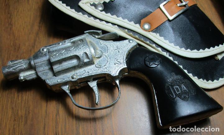 Juguetes antiguos: juguete del oeste holster o funda con pistola y cinturón años 60-70, JOAL - Foto 5 - 163495478