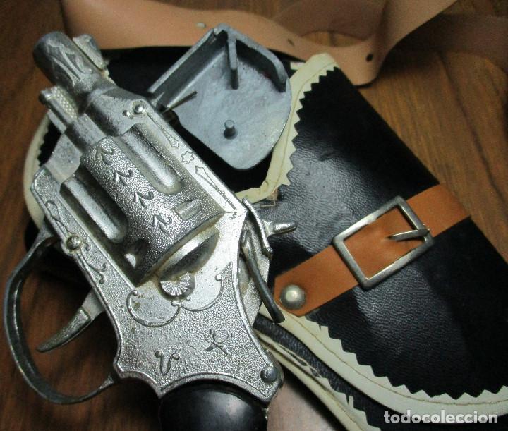 Juguetes antiguos: juguete del oeste holster o funda con pistola y cinturón años 60-70, JOAL - Foto 6 - 163495478