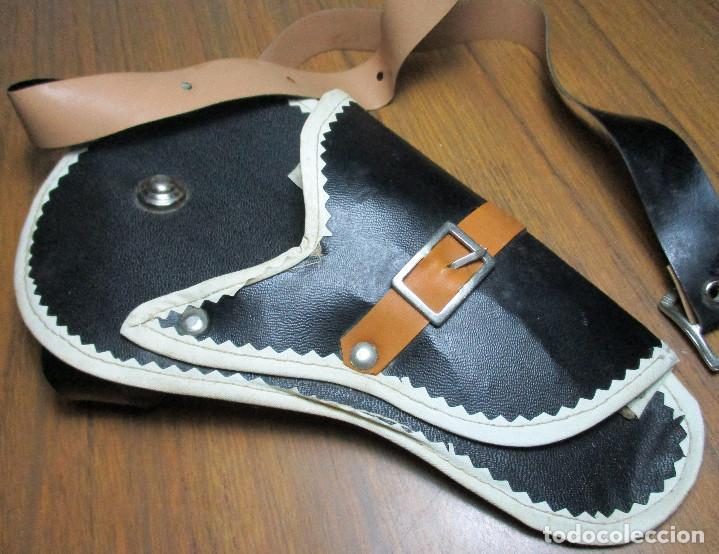 Juguetes antiguos: juguete del oeste holster o funda con pistola y cinturón años 60-70, JOAL - Foto 7 - 163495478