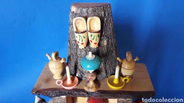 Juguetes antiguos: Bonita composición Rdo. de Nuria, Pagesos Catalanes, madera pintada a mano, Goula original años 60. - Foto 2 - 163747282
